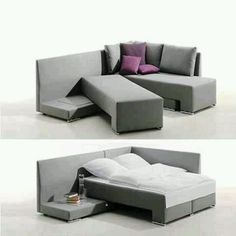 Couch bed!! Way cooler than a fouton or pull-out.