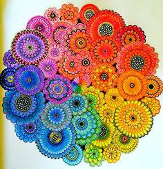 Took A Bit Of An Idea From Johanna Bastfords Blog But This Is BasfordThe CircleAdult ColoringColoring BooksSecret GardensArt
