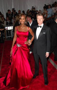 Rock star David Bowie and Somalian supermodel Iman were married in 1992, and despite the constant glare of the paparazzi's flashbulbs, the couple has enjoyed a lasting marriage. While Iman is known as a pioneer among black models in the fashion industry and recognized for designing the first line of cosmetics for women of color,