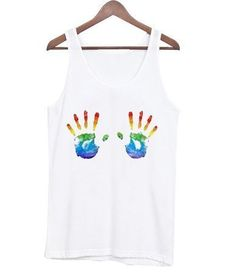 About Rainbow Hand Tanktop DAP PThis tank top is Made To Order, we print one by one so we can control the quality. We use DTG Technology to print Rainbow Hand Tanktop DAP Sheer Bodycon Dress, Satin Cami Dress, Velvet Slip Dress, Custom Tank Tops, Printed Tank Tops, Print Tank, Cute Designs, Rainbow, Mens Tops