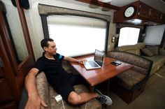 The mobile home of Richie Porte at the 2015 Giro d'Italia #motorhome #cycling #freedomtogo www.freedomtogo.co.uk