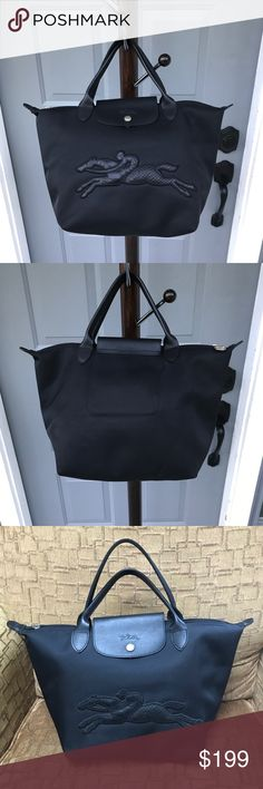 Longchamp Black Victoire Handbag Longchamp Victoire Bag. A black handbag In excellent condition, It can be use as everyday bag and shopping bag. I only used it 3 times and kept in my closet Longchamp Bags Satchels