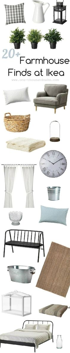 Ikea Farmhouse Decor | One Thousand Oaks http://www.One-thousandoaks.com