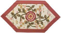 Pink Flower Table Topper Flower Appliqué Quilts | AllPeopleQuilt.com