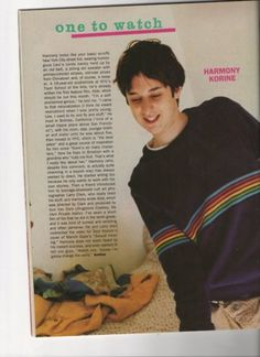 Harmony Korine in Sassy. Had this up on my wall in highschool!