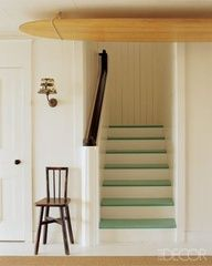 Fresh coloured stairs