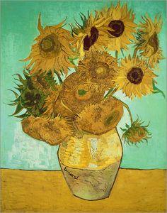 Als dekorativer Strauß lassen Sonnenblumen die Herzen aller Blumenliebhaber höher schlagen. Auch viele Künstler ließen sich von der Pflanzen Schönheit inspirieren woraufhin wahre Meisterwerke entstanden. Davon zeugt ebenfalls dieser bekannte Kunstdruck des Niederländers Vincent van Gogh!