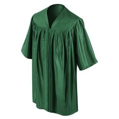 CHILD'S HUNTER CHOIR ROBE  • Hunter Premium Shiny Tricot Fabric  • Sleek, non-see-through shiny finish  • Reinforced stitching throughout the child's choir robe • Strong center pleats on the front of the kids choir robe • Comfortable darted yoke giving the robe strong structure • Sturdy zipper construction with a color matching hunter zipper • Each Hunter Child's Choral Robe comes packaged in its own poly bag