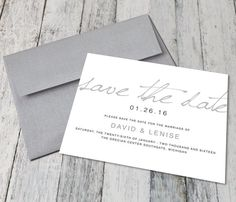 Modern Calligraphy Save The Dates (Digital) Calligraphy Save The Dates, Modern Calligraphy, Photo Center, Personalized Invitations, High Resolution Photos, Portrait Photo, Wedding Colors, Marriage, Place Card Holders