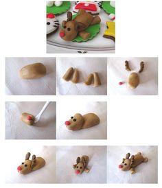 Tutorial - Reindeer http://www.cakedesignitalia.it/le-basi/tutorial/item/1820-tutorial-renna-in-pdz.html