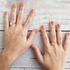 Lauren Conrad's Neutral Nails + LC Lauren Conrad for Kohl's Rings