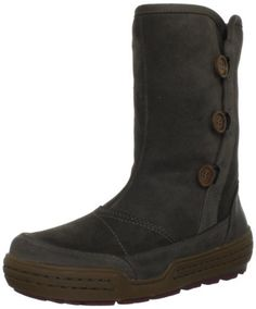 "ECCO Women's Siberia Snow Boot ECCO. $155.97. Shaft Height: 10"" (Size 7.5). Rubber sole. Heel measures approximately 1.25"". leather. Boot opening measures approximately 12.75"" around. Made in China. Outsole: Rubber. Circumference: 14"" (Size 7.5). Upper: Soft Nubuck/Suede. Shaft measures approximately 9"" from arch. Fit: True to Size"