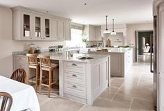 Sims Hilditch Mill House open plan kitchen and dining room with stone finishes Miller House, Open Plan Kitchen, New Kitchen, Kitchen Dining, Home Decor Kitchen, Home Kitchens, Country Kitchens, Kitchen Ideas, Kitchen Cabinet Door Styles