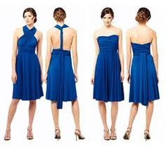 Different royal blue bridesmaids dresses