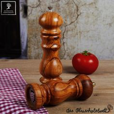 #Salt or #pepper #mill out of #olive #wood