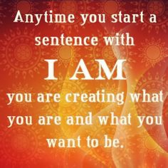 Exactly..the two most powerful words you can speak over yourself! Use them well!