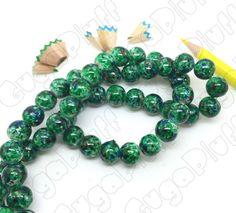 Perle vetro maculate (misura 10mm) - www.gugapluff.it