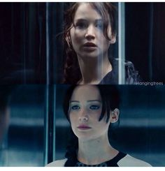 Katniss in the Hunger Games compared to Katniss in Catching Fire