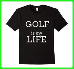 Mens Golfing T Shirts. Golfer Gifts for Golfers. Lives to Golf. 3XL Black - Sports shirts (*Amazon Partner-Link)
