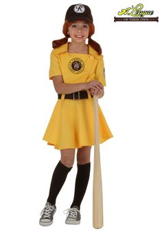 become the sweet and sassy baseball player in our exclusive girls a league of their own kit costume - Baseball Halloween Costume For Girls