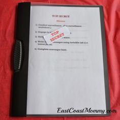 Top Secret Spy Mission Book (printable)