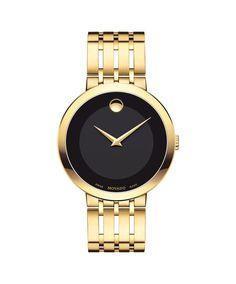 Movado   Esperanza Men's Gold Watch with Black Dial   Movado US