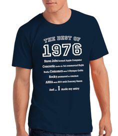 """Camiseta para Hombre """"The Best of 1976"""" para Regalo de 40 Cumpleaños: Amazon.es: Ropa y accesorios"""