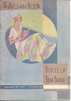 Crochet Pattern The Afghan Book Bucilla by KnitKnacksCreations