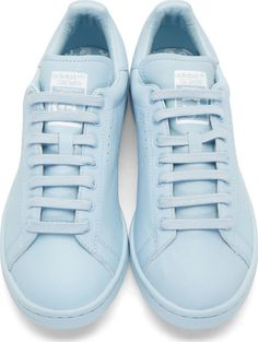 RAF SIMONS X ADIDAS, STAN SMITH SNEAKERS: light blue.
