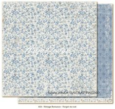 MAJA+DESIGN+-+VINTAGE+ROMANCE+-+FORGET+ME+NOT  Double-sided+-+patterned+-+heavyweight+paper Size+12+x+12+-+acid+&+lignin+free.