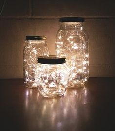 How to Make a DIY Glow Jar Learn how to make mason jar luminaries with o. - How to Make a DIY Glow Jar Learn how to make mason jar luminaries with our quick and easy # - Glow Jars, Christmas String Lights, Christmas Lights In Bedroom, Cute Room Decor, Room Lights Decor, Lighting Ideas Bedroom, Dyi Bedroom Ideas, White Lights Decor, Diy Room Ideas