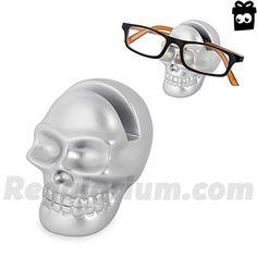 Balvi – Soporte gafas Skully plateado