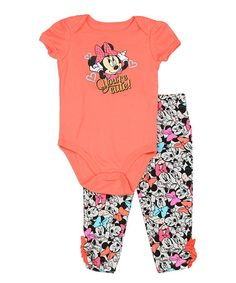 Another great find on #zulily! Minnie Mouse 'You're Cute' Bodysuit & Leggings - Infant #zulilyfinds