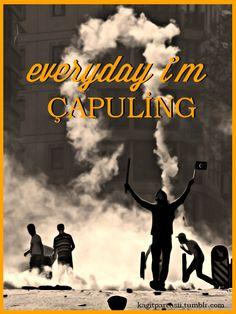 kagitparcasii: Everyday I'm Çapuling #direngeziparki #occupygezi #WeAreGezi