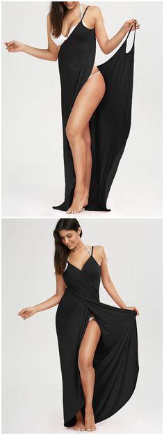 $7.98 Beach Maxi Wrap Slip Dress