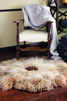 Thick Natural Wool Felt Rug Chrysanthemum by elenasfelting on Etsy, $750.00