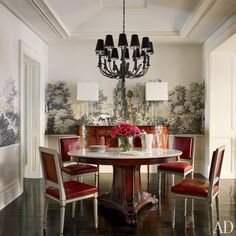 The Dining Rooms of Diane Keaton, Brooke Shields, Adam Levine, and Other Celebrities | Architectural Digest