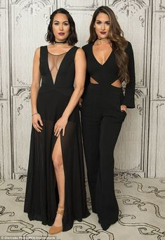 Totally alike: Twins Brie and Bella (pictured September 28) starred on Total Divas before landing their own spinoff show