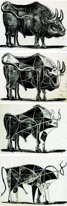 Pablo Picasso - The Bull (State III-VI), 1945