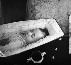 """OP: """"A postmortem photograph of a small child in a beautiful coffin. Antique Pictures, Old Pictures, Kid Photos, Memento Mori Photography, Post Mortem Pictures, Post Mortem Photography, Book Of The Dead, Momento Mori, Casket"""