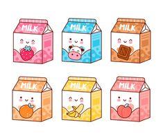 Cute Food Drawings, Cute Kawaii Drawings, Kawaii Art, Cartoon Stickers, Kawaii Stickers, Cute Stickers, Kawaii Doodles, Cute Doodles, Cute Doodle Art