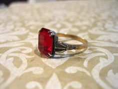 Vintage Sterling Silver  and GF January by charmingellie on Etsy, $30.00