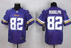 Men's Minnesota Vikings #82 Kyle Rudolph 2013 Nike Purple Elite Jersey