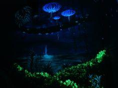 Avatar glowing mural, waterfall wall. glow in the dark home art.