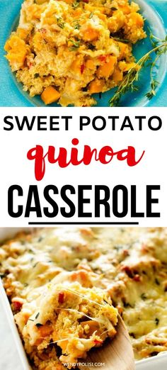 If you like recipes with ingredients that will leave you feeling great, you are going to love this Sweet Potato Quinoa Casserole.  This fuss-free recipe works just as well as a side dish as it does a vegetarian main course.  It is the perfect combination of comfort food and healthy. #quinoacasserole #casserole #healthy