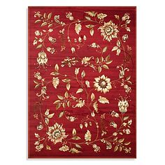 Inspired by a needle point design from the 19th century, this beautiful area rug features a finely-detailed curvilinear flower and vine motif updated for today's lifestyle and homes.