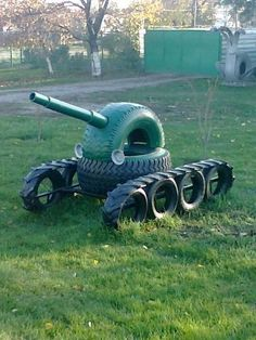 Tank made of tires