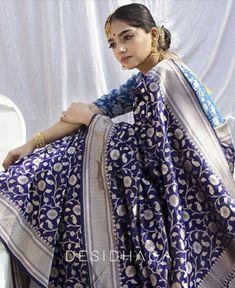 Saree Sale, Formal Saree, Bridal Lehenga Collection, Bridal Silk Saree, Designer Silk Sarees, Silk Saree Blouse Designs, Elegant Saree, Saree Look, Fancy Sarees