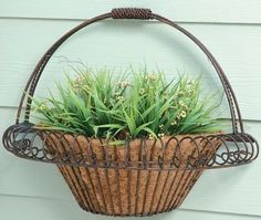 Deer Park Ironworks Small Wall Basket by Deer Park. $25.97. -Quality Craftsmanship that will give you years of enjoyment. Small wall basket with coco liner. -Quality Craftsmanship that will give you years of enjoyment -A baked-on, powder-coated finish with a natural patina appearence that nicely compliments any decor or color scheme. -Heavier gauge steel for greater strength, stability, and lasting durability -Fitted Coco Fiber Liners for all baskets and wall planters to e...
