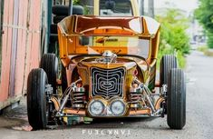 rat rod #ford #pickup Weird Cars, Cool Cars, Rat Rod Pickup, Rat Rod Cars, Lifted Ford Trucks, Abandoned Cars, Shop Interiors, Ford Models, Car Show
